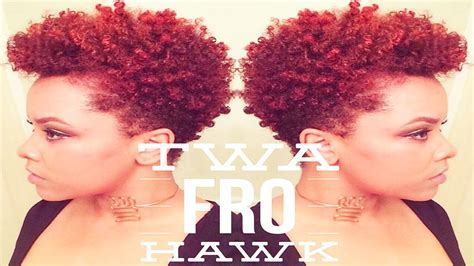 TWA Fro Hawk   Short Natural Hair Styles   YouTube