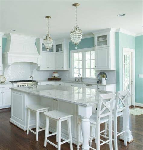 mur cuisine bleu couleur peinture cuisine 66 idées fantastiques