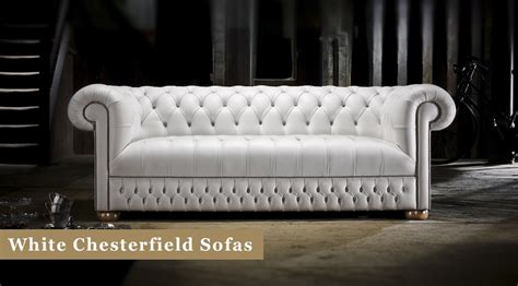 white chesterfield sofas  leather timeless chesterfields