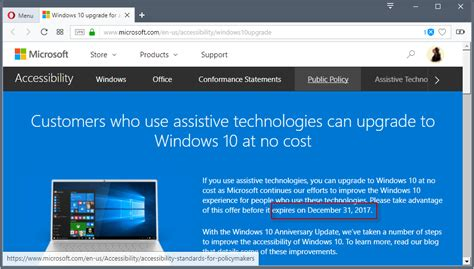 microsoft to end free windows 10 accessibility upgrade offer ghacks tech news
