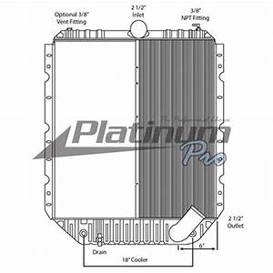 International 3000 4000 Series Half Core Radiator With Oil
