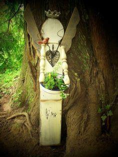 Rustic Garden Angel From Reclaimed Wood Yard Art