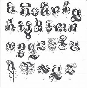 Graffiti Fancy Script Alphabet Letters Gothic Letter Designs Klejonka Best