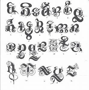 Graffiti Fancy Script Alphabet Letters Gothic Alphabet ...