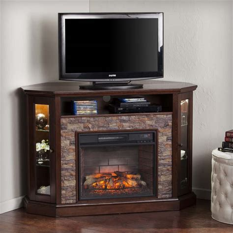 electric fireplace tv stands southern enterprises redden corner electric fireplace tv