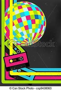 Vectors of Retro Party Background Retro Audio Cassette