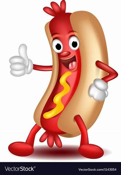 Hotdog Cartoon Vector Royalty Vectorstock Pay Unlimited