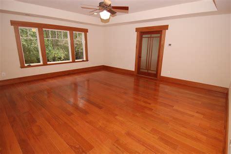 "Brazilian Cherry Flooring   Prefinished 3/4"" x 5"" Clear"