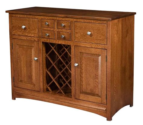 Hutch Sideboard Buffet by Amish Made Wine Racks