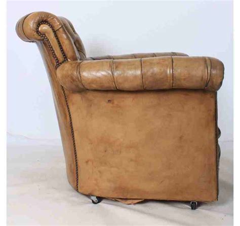 Leather Chesterfield Armchair by Leather Chesterfield Style Library Armchair