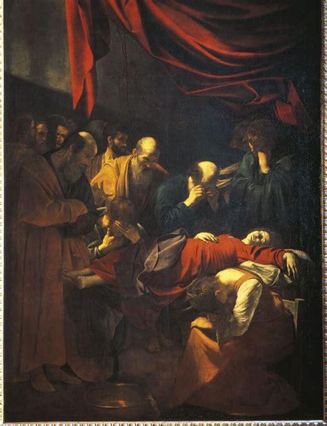 Ritratto di Michelangelo Merisi detto il Caravaggio: La morte della Vergine olio su tela 1605