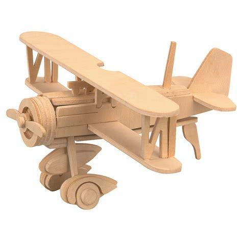 balsa wood puzzle airplane