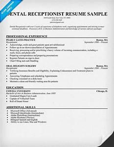 Job Description For Medical Administrative Assistant Dental Receptionist Resume Example Dentist Health