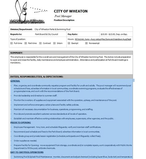 Swimming Pool Maintenance Contract Print In Pdf And Word