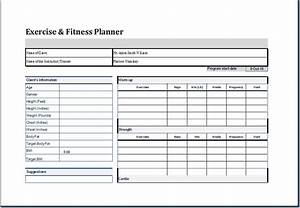 exercise and fitness planner template at http worddox With weekly fitness plan template