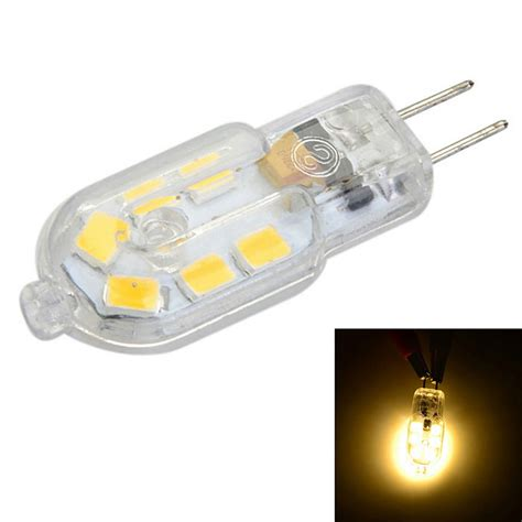 g4 pc cover 3w 150lm warm white light 12 smd led bulb ac