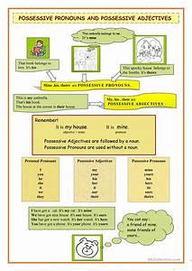 Possessive Pronouns Vs Possessive Adjectives Worksheet
