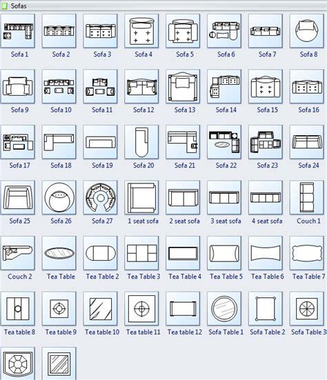Idea For Kitchen - symbols for floor plan sofa