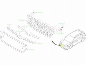 2019 Subaru Crosstrek 2 0l Cvt Limited Front Grille