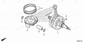Honda Motorcycle 2009 Oem Parts Diagram For Crankshaft
