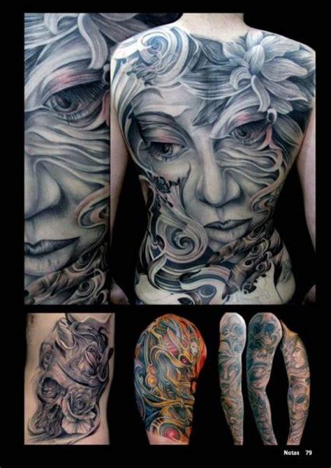 tatuaz fantasy kobieta plecy przez mancia tattoos