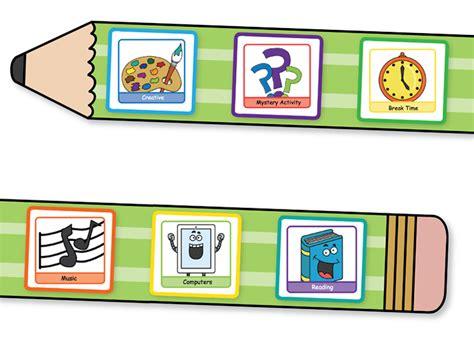 Fellowes Idea Centre  Ideas For School  Classroom Management  Pencil Visual Timetable Background