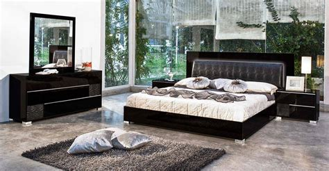 italy leather modern bedroom sets feat lighting