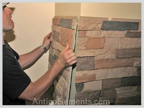 installing walls faux stone installation