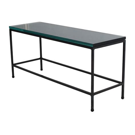 80% Off  Cb2 Cb2 Glass Top Coffee Table Tables