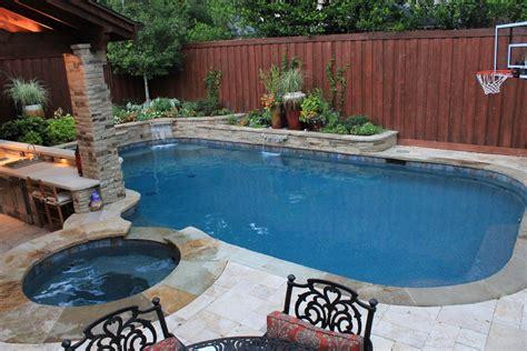 Small Pool Backyard by Dallas Tx Custom Pool Designers And Builders