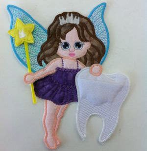 toothfairy large applique machine embroidery design