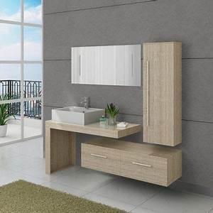 Meuble Salle De Bain Moderne : craquez pour cet ensemble de meubles de salle de bain ~ Nature-et-papiers.com Idées de Décoration