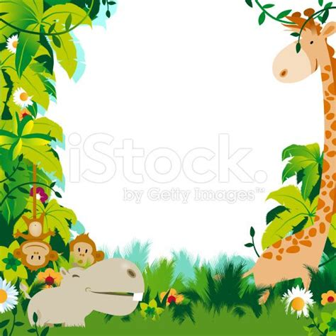 Animal Frame Wallpaper - a frame composed by jungle animals including a