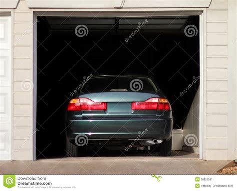 Garage Of Cars by Car Parked In A Garage Stock Photo Image 38921581