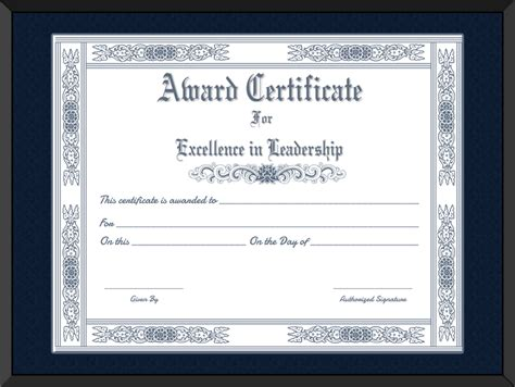printable  leader award certificate template