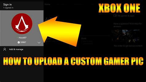 upload custom xbox one gamerpic for profile clubs xbox one guide