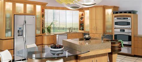 A Modern Natural Kitchen Featuring Ge Appliances Manteo