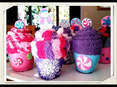 cute cupcake sock party favors easy quick
