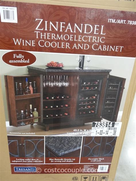zinfandel thermoelectric wine cooler and cabinet