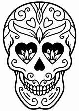Skull Coloring Sugar Sheets Mindfulness Skulls Colouring Adult Aboriginal Halloween Teacherspayteachers Template sketch template