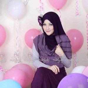 manset baju gamis baju gamis muslimah jilbab nuhijab rle shawl n plain rle n manset purple shawl