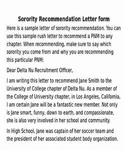 fraternity recommendation letter free 5 sample sorority recommendation letter templates in