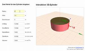 Radius Eines Zylinders Berechnen : kompletten zylinder aus nur zwei werten berechnen neues mathe programm mathelounge ~ Themetempest.com Abrechnung