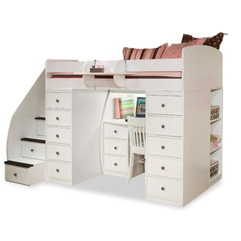 Wayfair Storage Bed by Berg Space Saver Loft Bed With Desk And