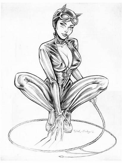 Catwoman Drawing Coloring Deviantart Drawings Comic Batman