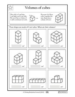 5th grade math worksheets volume of cubes greatschools