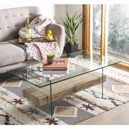Kayley glass coffee table item: Safavieh Kayley Rectangular Modern Glass Coffee Table, Natural - Walmart.com | Modern glass ...