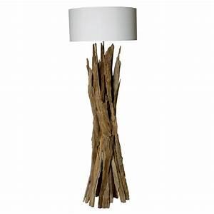Lampe Chevet Bois Flotté : lampadaire lampe taiga bois flotte magasin decoration bois deco nord ~ Teatrodelosmanantiales.com Idées de Décoration