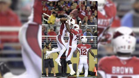 Larry Fitzgerald's touchdown celebration knocks over ...