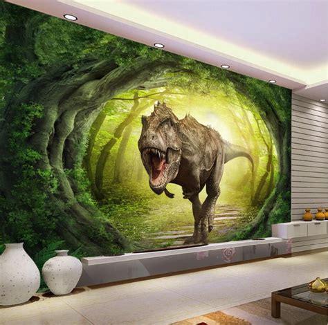 custom wallpaper  dinosaur world landscape forest tv